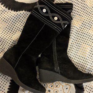 Brilliant Suede Heeled Snow Shoes sz 9.5 Women's
